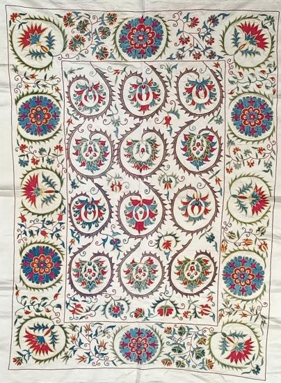 Suzani İpek Panel ( 91x126 cm )