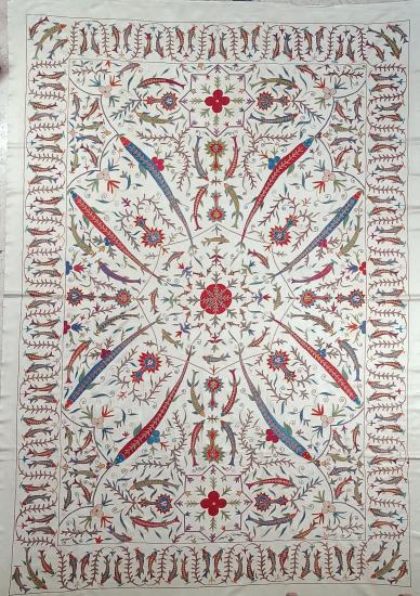 Suzani Yatak Örtüsü (180x255cm )